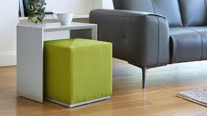 matt grey and green side table marble top duo lime fabric stool