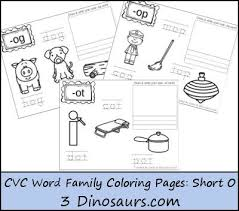 Word Family Coloring Pages New Cvc Word Family Coloring Pages Short O Vowel Best Of