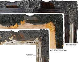 red frame guilding casting cast frame frame repair frame restoration