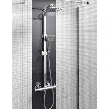 exposed shower system. Vellamo Blade Quadro Thermostatic Exposed Shower System E