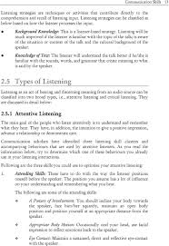 communication skills pdf listening will be much improved if the listener is familiar the topic of the talk 14 14 communication skills