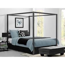 modern queen bed frame. DHP Modern Canopy Metal Queen Size Bed Frame In Gunmetal Grey N