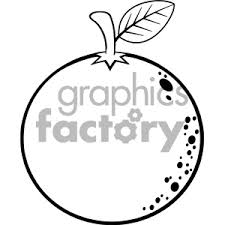black and white orange clipart. Interesting Orange Royalty Free RF Clipart Illustration Black And White Orange Fresh Fruit  Cartoon Lines Drawing Vector In W