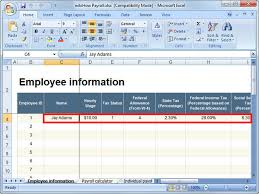 Payroll In Excel Magdalene Project Org