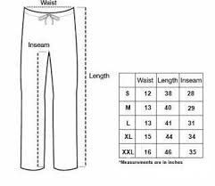 Women S Sweatpants Size Chart Size Guides Crown Forever