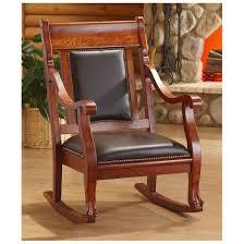 castlecreek rocking chair walnut finish