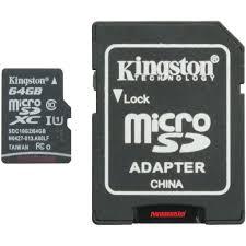 Nơi bán THẺ NHỚ KINGSTON 64GB SDCHC giá tốt nhất - Tháng 06/2021
