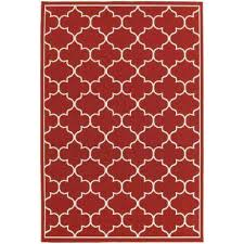 valley red 4 ft x 6 ft indoor outdoor area rug