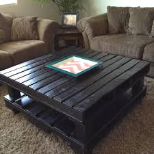 black pallet coffee table