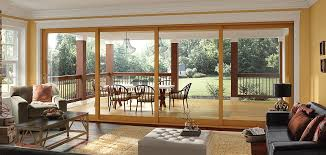 moving glass wall system 4 panel pocket door