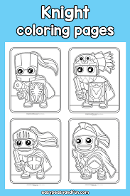 They're great for all ages. Knight Coloring Pages Easy Peasy And Fun Membership