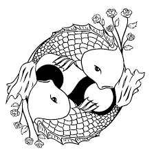 Small Picture Two Koi Fish Formed Yin Yang Sign Coloring Pages Two Koi Fish