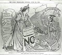 immigration restriction act s migration history anti federation cartoon 1899 slnsw