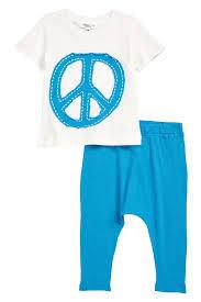 Joah Love Peace Sign T Shirt Pants Set Baby Nordstrom Rack