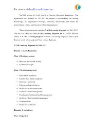 Nanda Nursing Diagnosis Nanda Nursing Diagnosis List 2015 17