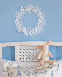 Room Decorating With Paper Decorating With Paper Snowflakes Martha Stewart