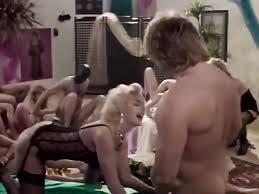 Retro 80s orgy gangbang