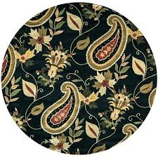 round area rug destiny black wool paisley patterned hand tufted round area rug area rug sizes area rugs