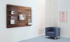 Wall Mount Bookcase Wall Mounted Bookcase Contemporary Wooden Glass Dazibao By