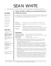 System Administrator Resume Format Doc Top Rated System