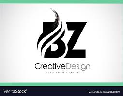 Letters In Design Bz B Z Creative Brush Black Letters Design With