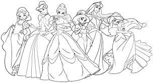 Disney Princess Coloring Pages For Adults Soundpushr