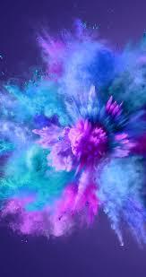 Purple Green Blue Powder Explosion Photo Action Shot Patronen In