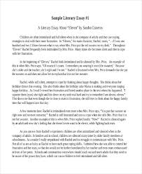 literary essay samples short literary sample