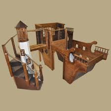 wooden pirate ship playhouse w light house