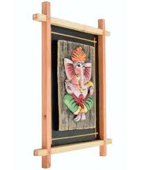 88 terracotta wall hanging wooden frame pagri ganesh wall sculpture multi pack of 1 88 terracotta wall hanging wooden frame pagri ganesh