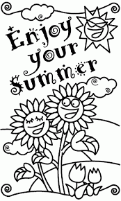 Small Picture Coloring Pages Sunny Summer Coloring Page For Kids Seasons