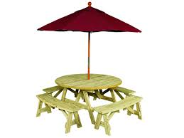 wooden picnic table with umbrella hole home design ideas