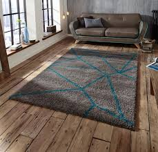 view larger gallery royal nomadic rug collection geometric design rug in grey and blue