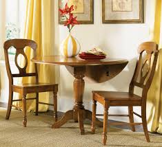 interior round drop leaf dining table