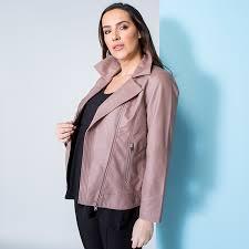 stolen heart faux leather zip through jacket