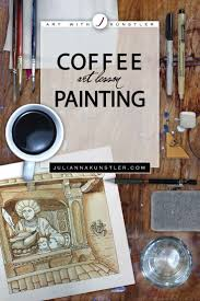 Paint the espresso beans using a round brush and burnt umber. Coffee Painting Tile Observational Drawing Art Lesson