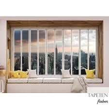 Vlies Fototapete No 3439 New York Tapete Skyline Fenster Empire