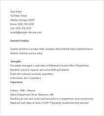 cashier sample resume example of cashier resume