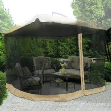 mosquito net gazebo square feet h patio umbrella top canopy netting for 12x12