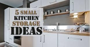 5 small kitchen storage ideas