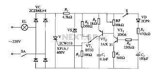 fade one lamp dimming switch circuit