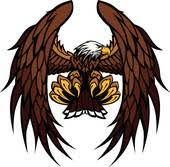 hawk wing clipart. Interesting Clipart Eagle Wings And Claws Mascot Vector Inside Hawk Wing Clipart D