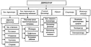 Курсовая работа Комплексный анализ результатов финансово  Рисунок 1 2 Организационная структура управления