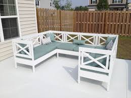 painted wood patio furniture. Ana White Weatherly Outdoor Sectional Diy Projects With Wooden Patio Furniture Painted Wood F