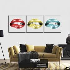 lip pop combo gold canvas set wall art on multi panel canvas wall art set with lip pop combo gold canvas set wall art elephantstock