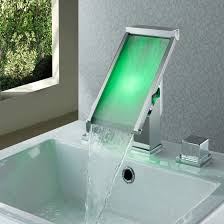 bathroom sinks and faucets. Koko LED Color Water Widespread Bathroom Sink Faucet Sinks And Faucets