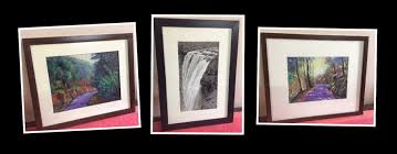 framing of original soft pastel paintings by manju panchal using offwhite matt board and fibreboard frame
