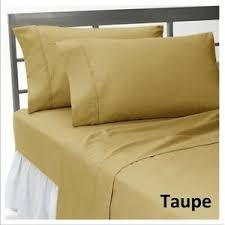 Details About 1 Pc Fitted Sheet 1000 Thread Count Egyptian Cotton Taupe Solid Queen Size