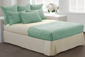quilt sets simple bedding green seafoam white colored combine quilt set in square thin bedcover