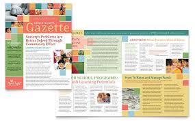 Education Newsletter Templates Non Profit Association For Children Newsletter Template Design